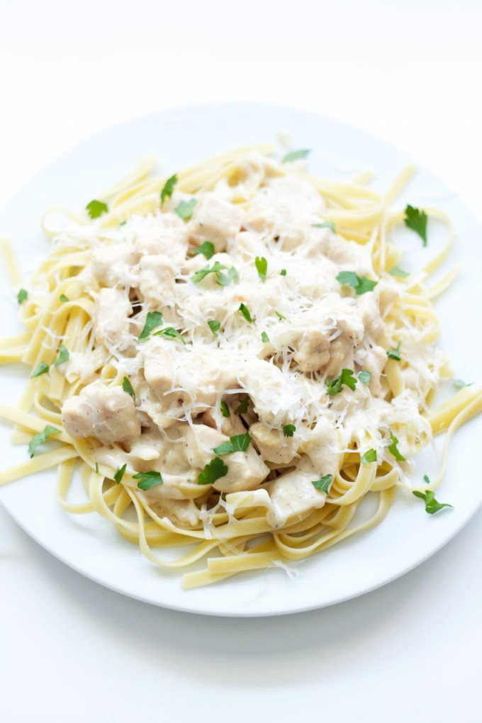 Skinny Chicken Fettuccine Alfredo | Recipe Runner