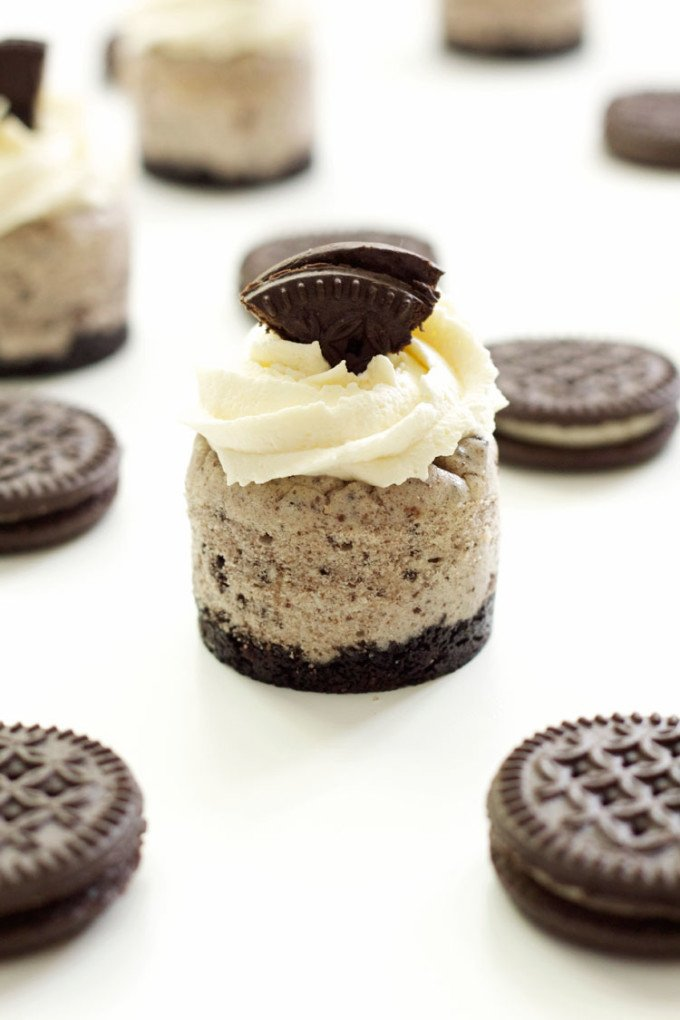 Cookies 'n Cream Mini Cheesecakes   Recipe Runner   Your favorite chocolate sandwich cookies crumbled up into delicious mini cheesecakes!