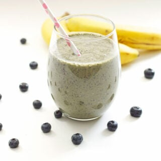 Green Blueberry Banana Smoothie