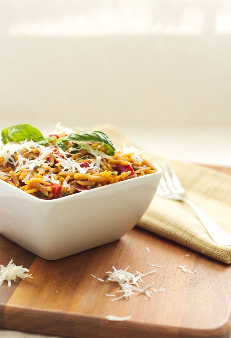 Orzo With Spinach And Roasted Red Peppers Recipe Runner
