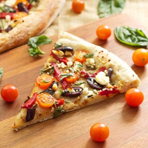 Tomato Basil Feta Pizza