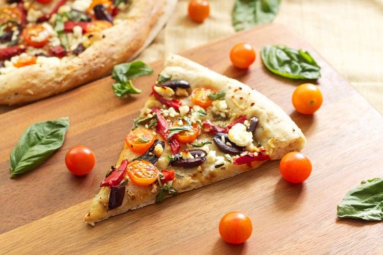 Tomato Basil Feta Pizza   Recipe Runner   A lighter pizza perfect for summer! #pizza #summer