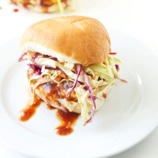 BBQ Turkey Burgers with Chipotle Slaw