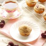Brown Butter Cherry Almond Muffins