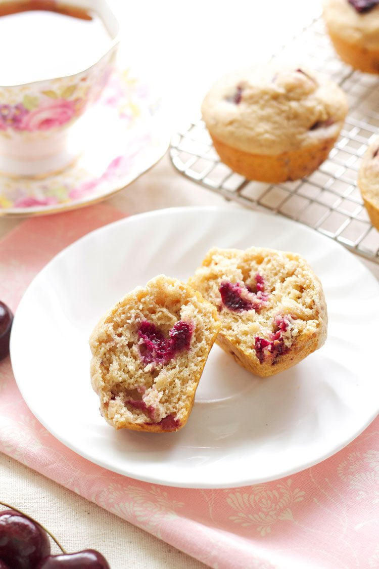 Brown Butter Cherry Almond Muffins | Recipe Runner | The perfect muffins for fresh seasonal cherries! #brunch