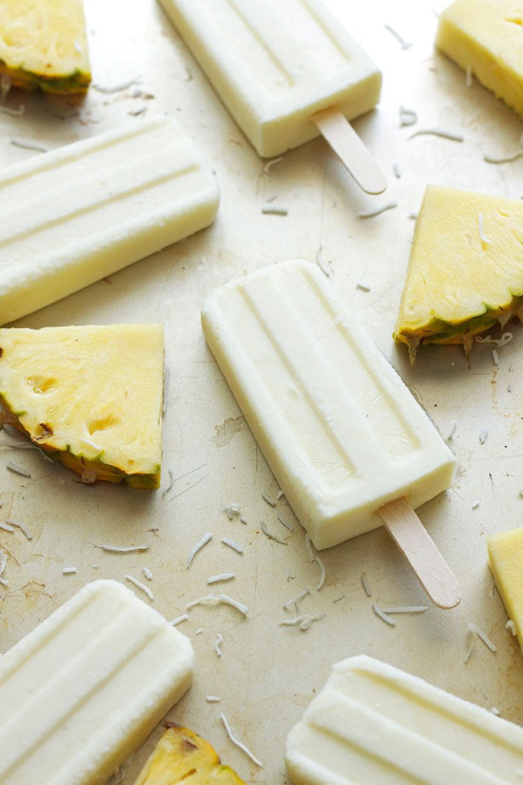 Coconut Pineapple Yogurt Pops | Recipe Runner | Bring the tropics to your home this #summer ! Cool off with these healthy sweet treats!