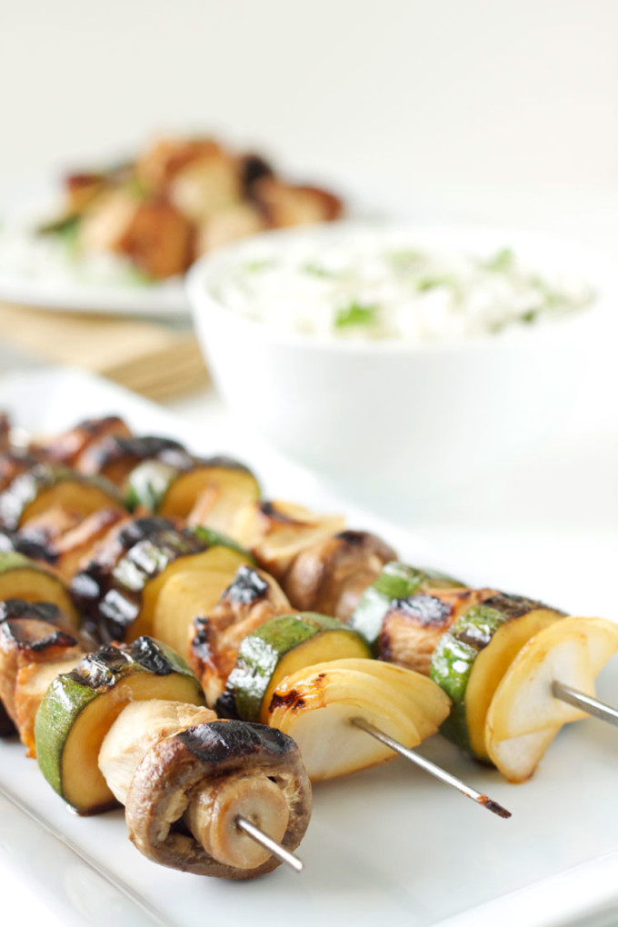 Grilled Chicken and Vegetable Kabobs with Cilantro Lime Rice   Recipe Runner   Chicken and Vegetable Kabobs are perfect for grilling this summer !