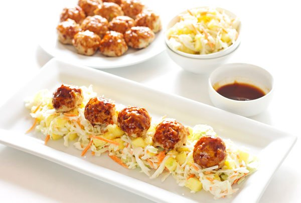 Asian Meatballs with Pineapple Slaw | Recipe Runner | Easy to make ...