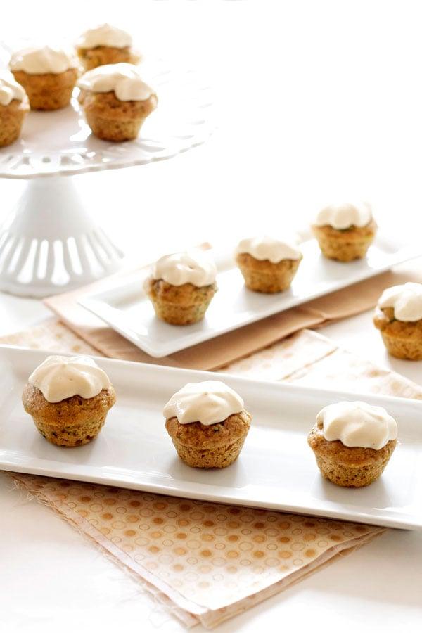 Mini Zucchini Cupcakes with Honey Cream Cheese Frosting | Recipe ...
