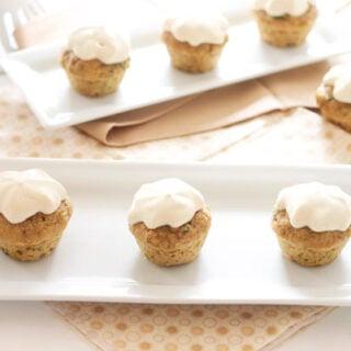 Mini Zucchini Cupcakes with Honey Cream Cheese Frosting