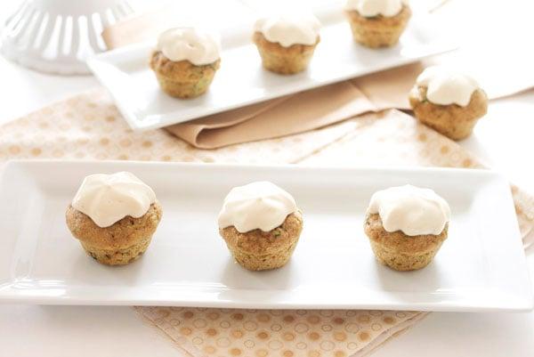 Cheese Frosting   Recipe Runner  Mini zucchini cupcakes sweetened ...