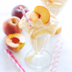 Skinny Peach Milkshakes | Recipe Runner | There's no ice cream in this shake, but you'd never know! Thick, creamy, & peachy!