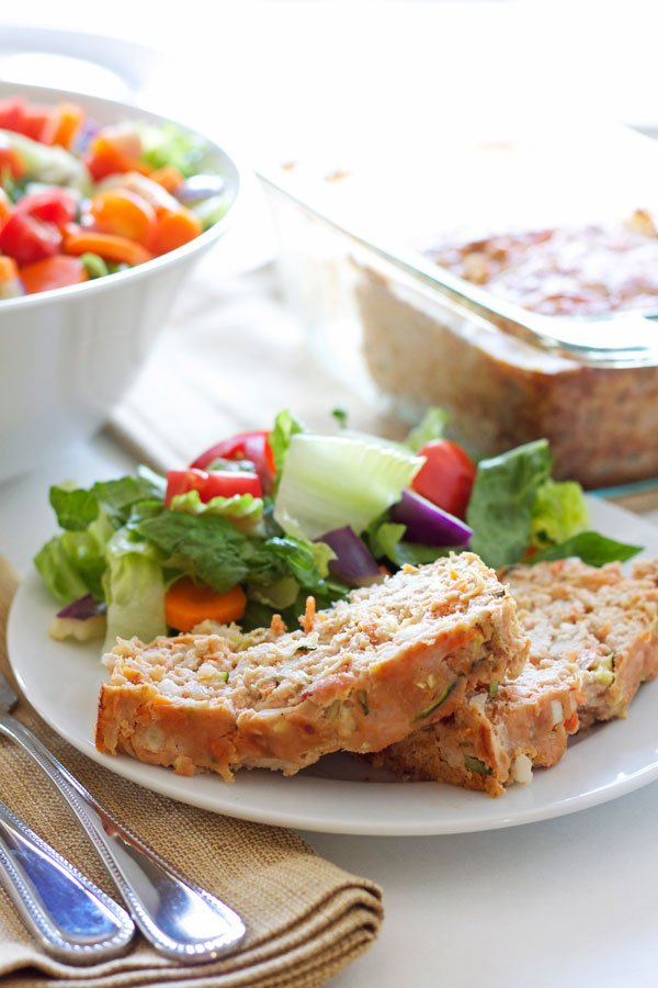 Turkey Vegetable Meatloaf | Recipe Runner | Delicious, moist, healthy turkey meatloaf loaded with veggies! #dinner #healthy