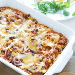 BBQ Chicken Enchilada Casserole