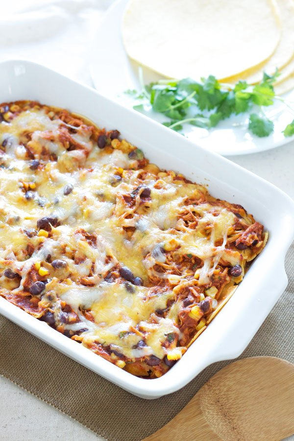 Bbq Chicken Enchilada Casserole Recipe Runner