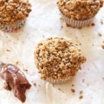 Hazelnut Coffee Muffins Stuffed with Nutella + A GIVEAWAY! | Recipe Runner | My new favorite muffin using hazelnut meal and filled with nutella! #breakfast