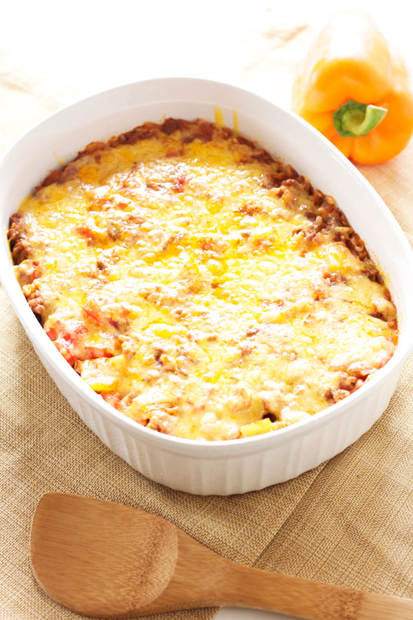 Stuffed Pepper Casserole | Recipe Runner | Classic stuffed peppers turned into an easy to make and delicious casserole!