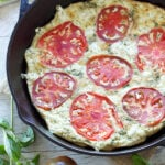 Tomato Basil Frittata with Goat Cheese