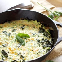 Zucchini, Kale, and Sage Frittata | Recipe Runner | One of the best frittatas I've ever had! Plus a review of the cookbook, Let Them Eat Kale! #cookbook #kale #breakfast
