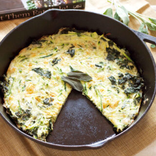 Zucchini, Kale, and Sage Frittata + A Review of Let Them Eat Kale!