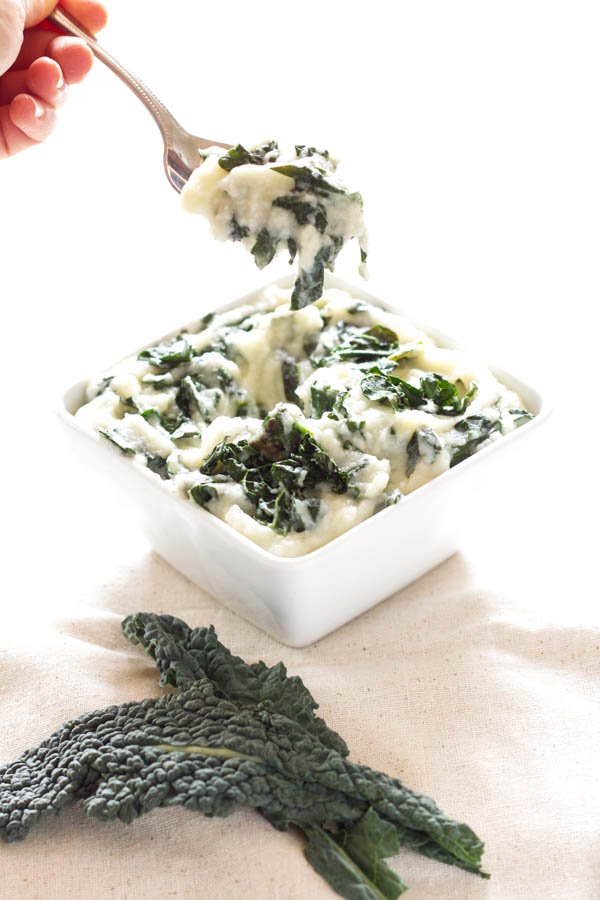Cauliflower Kale Puree | Recipe Runner | One of the easiest, tastiest, and healthiest side dishes you'll ever eat!