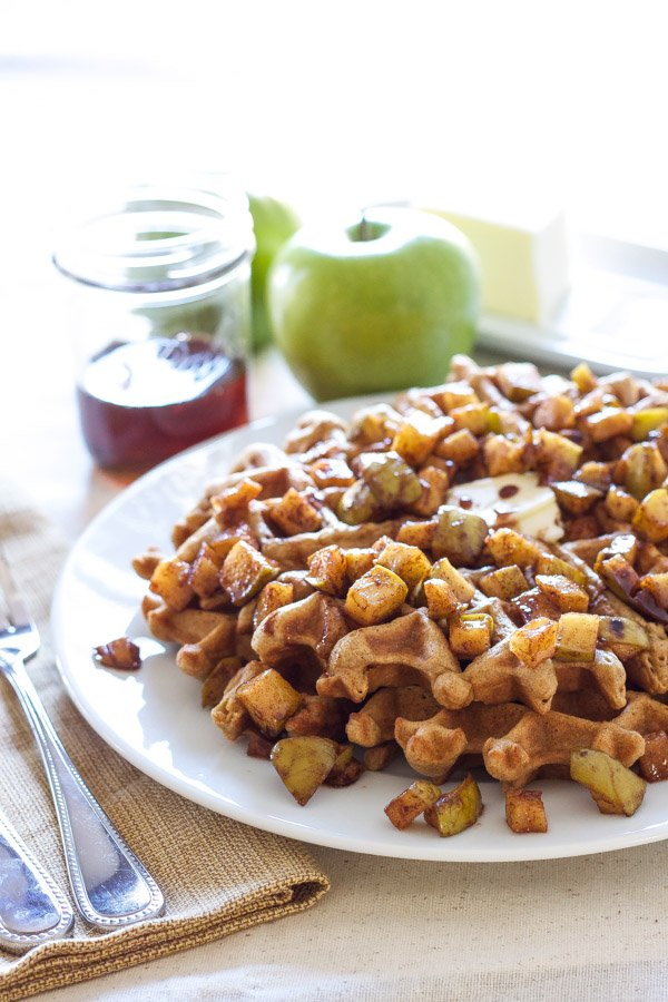 cinnamon waffles with apple topping recipe runner