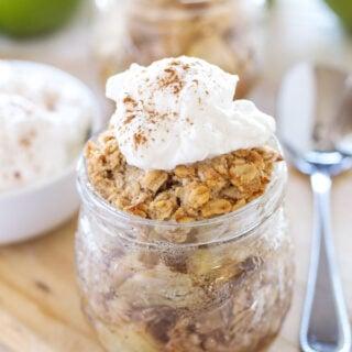 Honey Bourbon Apple Crisps in Jars