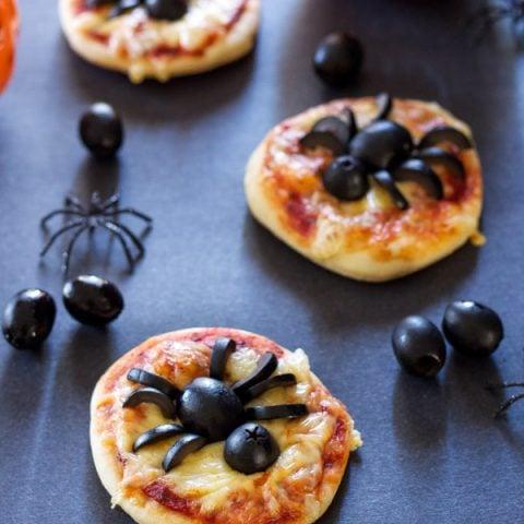 Mini Spider Pizzas