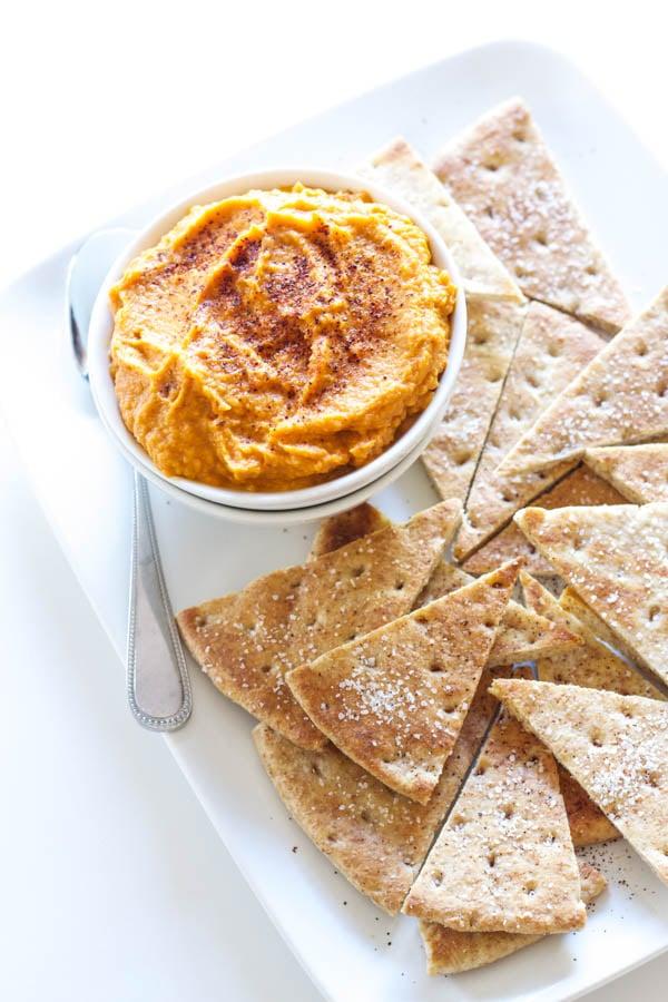 Sriracha Pumpkin Hummus   Recipe Runner   This spicy, smokey hummus will be a hit at your next party!