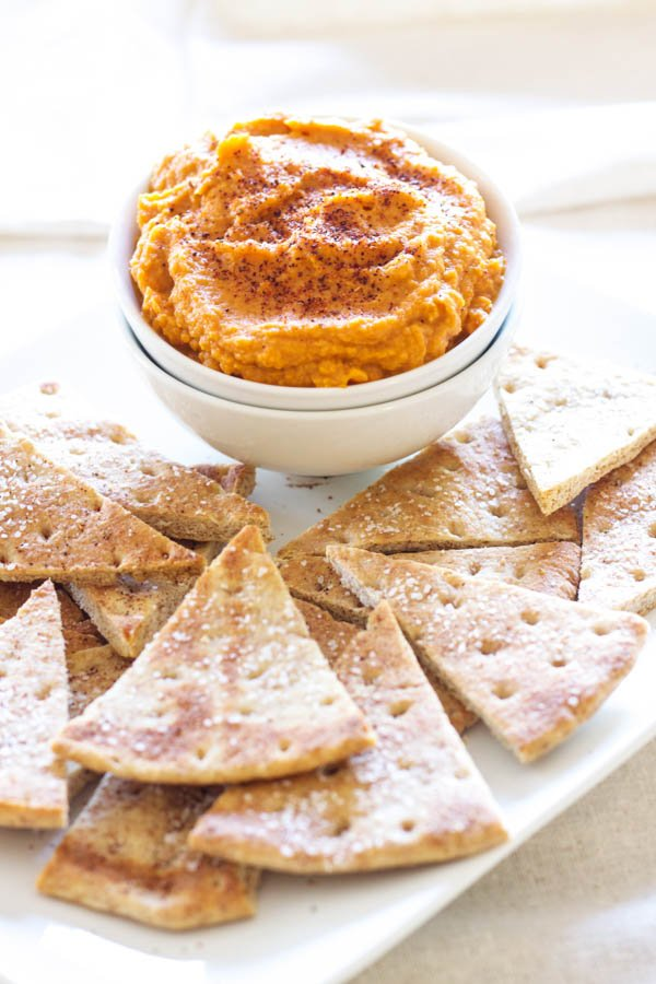 Sriracha Pumpkin Hummus | Recipe Runner | This spicy, smokey hummus will be a hit at your next party!