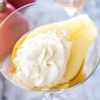 Amaretto Maple Poached Pears   Recipe Runner   Pears are perfect for poaching! The amaretto maple combo is the best I've ever had! #CleverlyPoached #CleverGirls