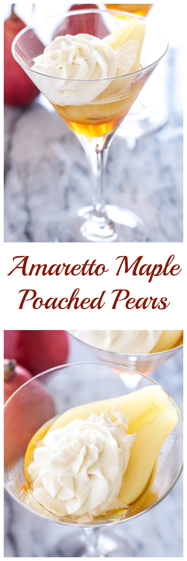 Amaretto Maple Poached Pears | Recipe Runner | Pears are perfect for ...