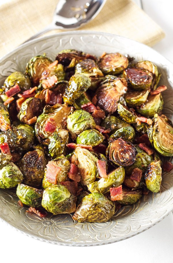 Balsamic Maple Roasted Brussels Sprouts with Bacon - Recipe Runner