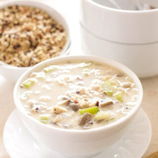 Chicken and Wild Rice Soup | Recipe Runner | One of my favorite soups to make on a cold day! This classic soup is made a little lighter, but you'd never know!