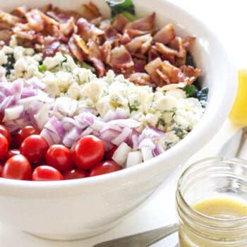 Kale BLT Salad | Recipe Runner | Bacon and lemon vinaigrette are the stars in this healthy and delicious salad!