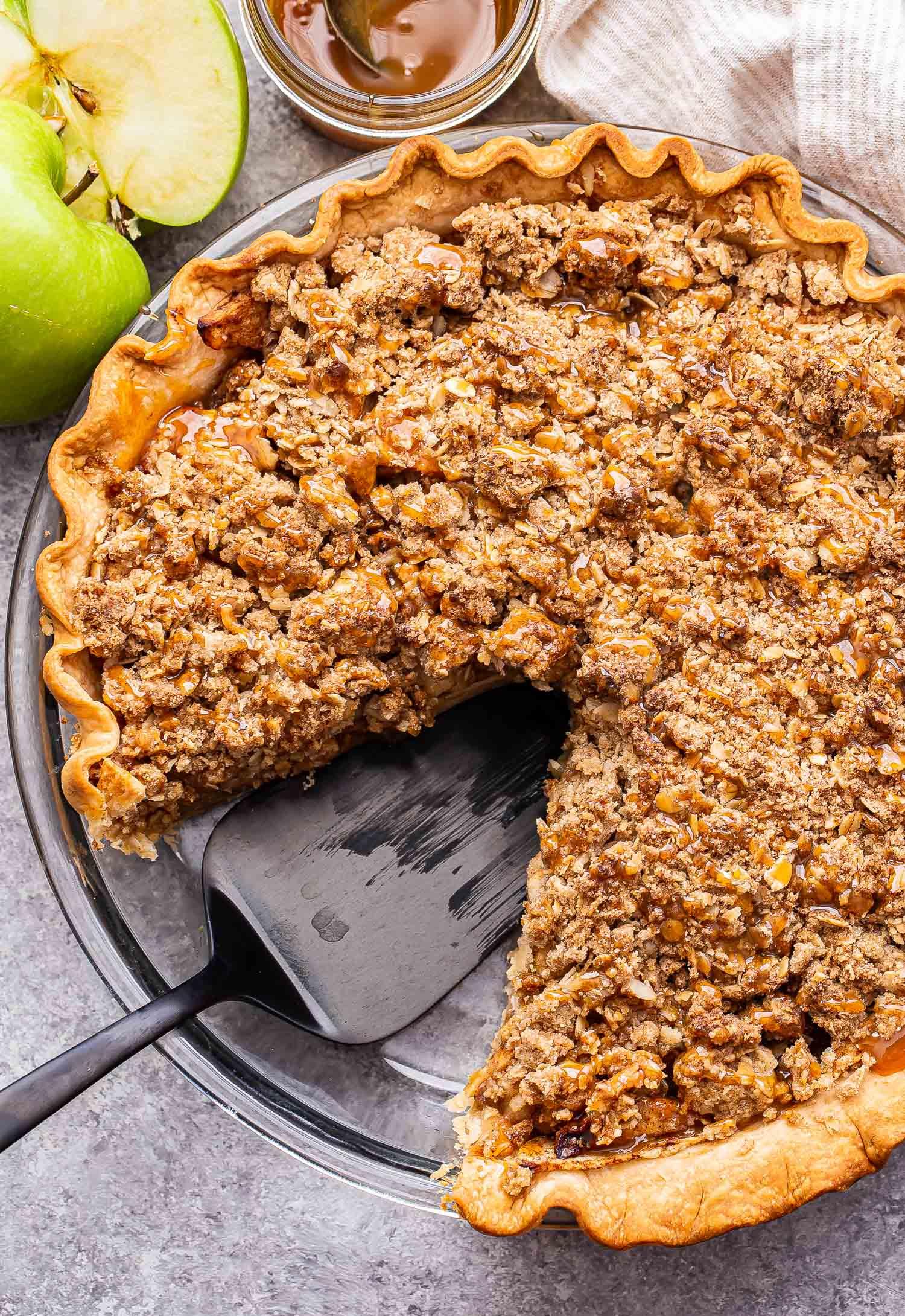 Caramel Apple Crumb Pie   Recipe Runner