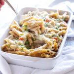 Chicken Pot Pie Pasta | A delicious, easy to make, and lighter spin on traditional chicken pot pie! | www.reciperunner.com