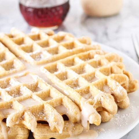 Eggnog Waffles | If you love eggnog these are the perfect seasonal waffles for you! | www.reciperunner.com