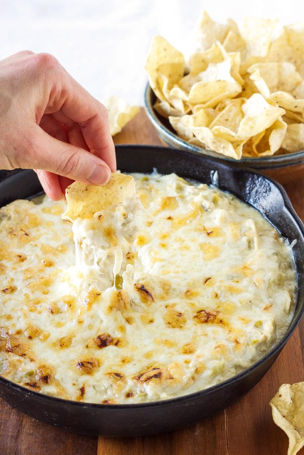 Green Chile Chicken Enchilada Dip | Creamy, cheesy, enchilada dip ...
