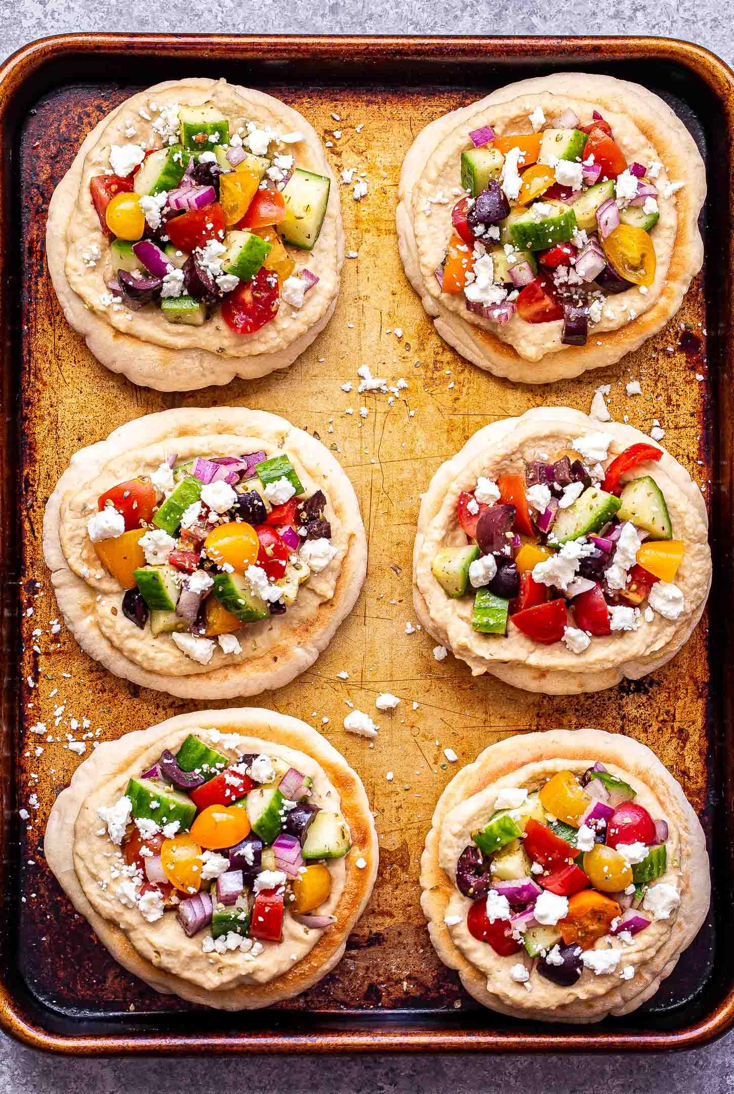 Greek Pita Pizzas Recipe Runner