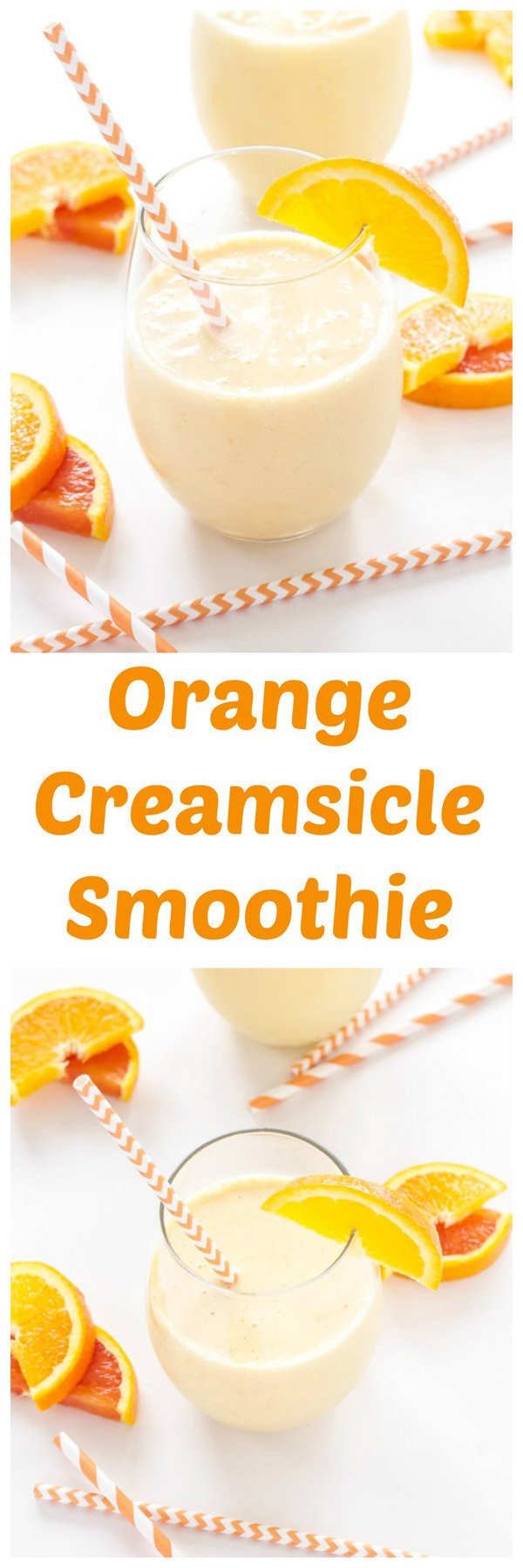Orange Creamsicle Smoothie | A creamy, citrusy, smoothie with the perfect combination of orange and vanilla! | www.reciperunner.com
