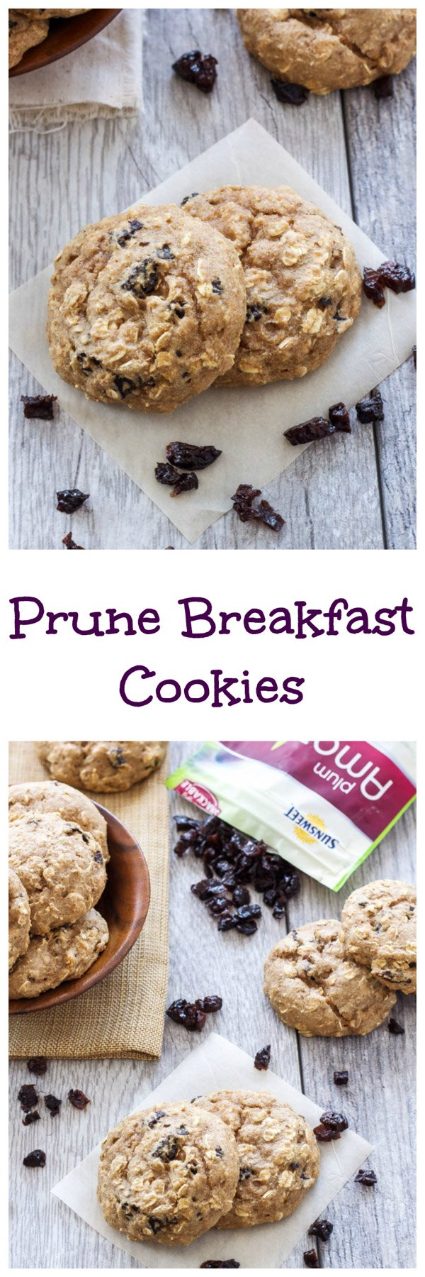 Prune Breakfast Cookies   Delicious and healthy breakfast cookies full of sweet diced prunes!   www.reciperunner.com