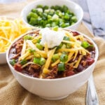Slow Cooker Cincinnati Turkey Chili | My absolute favorite chili! Easy, healthy, and full of a unique blend of spices! | www.reciperunner.com