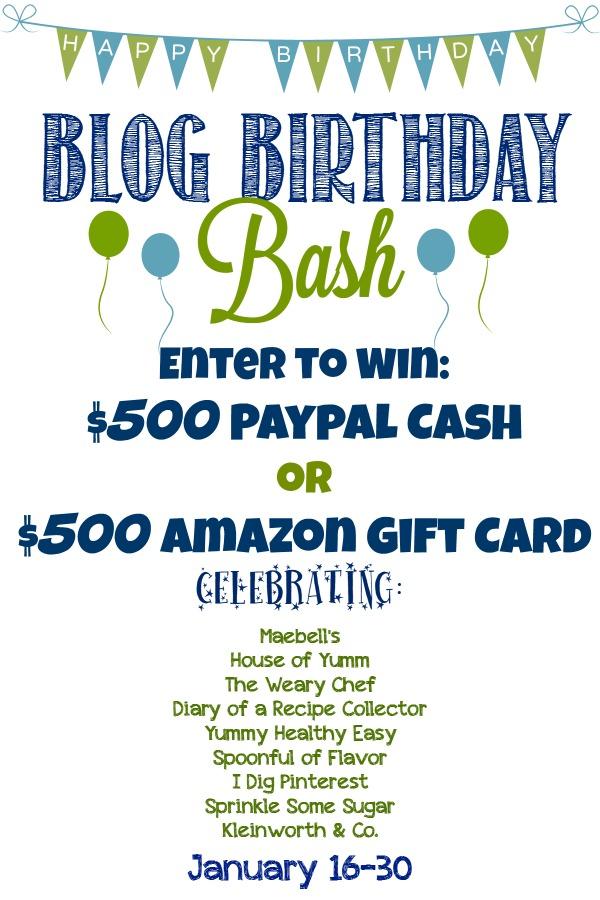 Blog Birthday Bash Giveaway