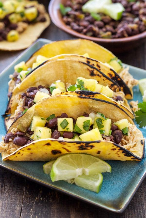 Hawaiian Barbecue Quesadillas And Black Bean Corn Salsa ...