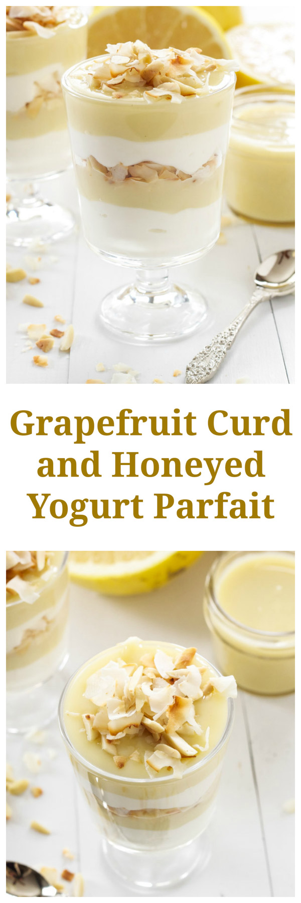 Grapefruit Curd and Honeyed Yogurt Parfaits | Move over lemon curd, grapefruit curd is the star of these delicious parfaits! | www.reciperunner.com