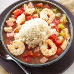 Healthy Cajun Jambalaya   My favorite jambalaya straight from my grandma's recipe box!   @reciperunner