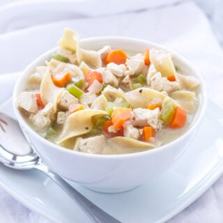 Lightened Up Creamy Chicken Noodle Soup