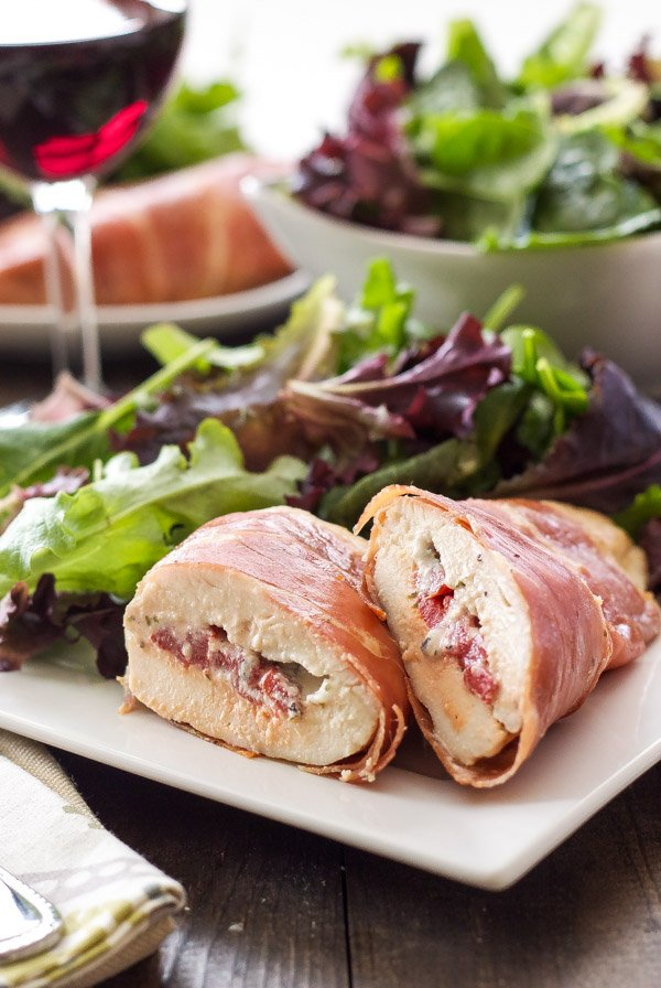 Prosciutto Wrapped Chicken Stuffed with Goat Cheese | An easy and ...