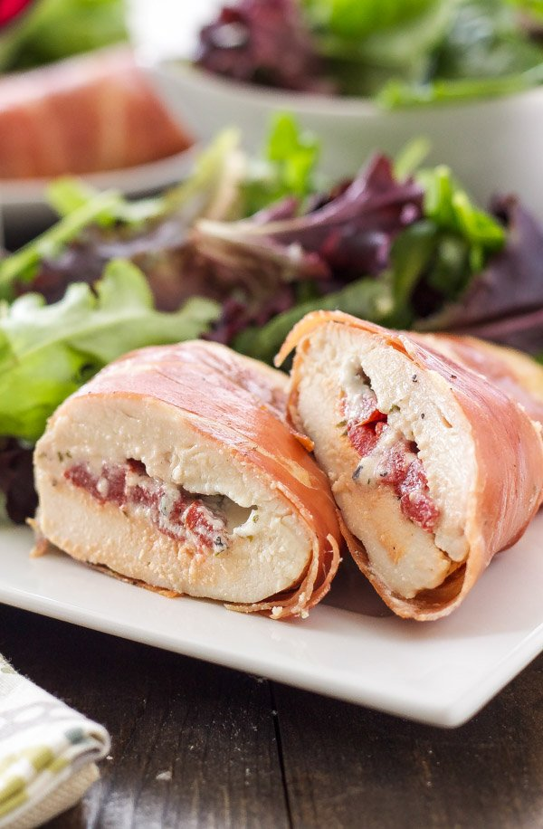 Prosciutto Wrapped Chicken Stuffed With Goat Cheese